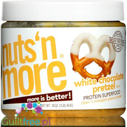 Nuts 'N More White Chocolate Pretzel Peanut Butter with Whey Protein