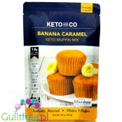 Keto & Co Cake Mix, Banana & Caramel  - mix do keto ciasta
