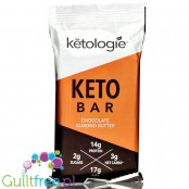 Ketologie Keto Bar, Chocolate Almond Butter