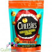 Cheesies Crunchy Popped Cheese Snack, Cheddar. No Carb, High Protein, Gluten Free, Vegetarian, Keto 60g