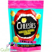 Cheesies Crunchy Popped Cheese Snack, Emmental No Carb, High Protein, Gluten Free, Vegetarian, Keto 60g