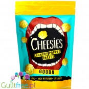 Cheesies Crunchy Popped Cheese Snack, Gouda No Carb, High Protein, Gluten Free, Vegetarian, Keto 60g