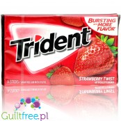 Trident Strawberry Twist guma do żucia bez cukru, z ksylitolem, truskawkowa