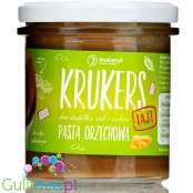 Krukam Krukers Lajt no added sugar crunchy peanut butter with cookie pieces