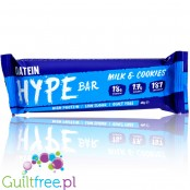 Oatein HYPE Bar Milk & Cookies - low sugar milk chocolate protein bar with a creamy filling
