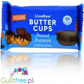LoveRaw Vegan Chocolate Butter Cups Peanut Brownie