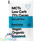 Funky Fat Foods KetoCacao Coconut - keto chocolate with MCT, dark & coconut
