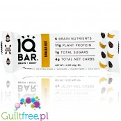 IQ Bar Banana Nut Brain & Body plant protein bar with Lion's Mane, MCTs, Omega-3, flavonoids, vitamin-E and choline