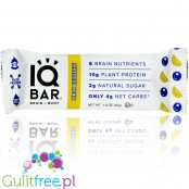 IQ Bar Lemon Blueberry Brain & Body wegański baton białkowy z Lion's Mane, MCTs, Omega-3 i choliną
