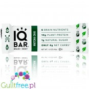 IQ Bar Matcha Chai Brain & Body plant protein bar with Lion's Mane, MCTs, Omega-3, flavonoids, vitamin-E and choline