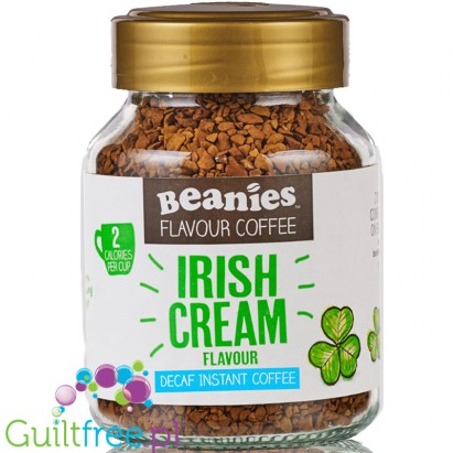 Beanies Decaf Irish Cream instant flavored coffee 2kcal pe cup