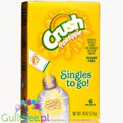 Crush Singles to Go 6 pack - Pineapple, sugar free instant sachets