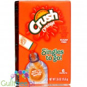 Crush Singles to Go 6 pack - Orange, sugar free instant sachets