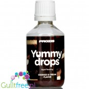 Prozis Yummy Drops Cookies & Cream liquid sweetened flavoring drops