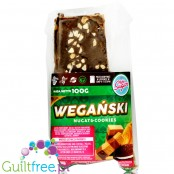 Light Sugar Vegan Nougat & Cookies - dark chocolate covered vegan protein bar with peanut butter
