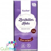 Xucker Vegane Keks - xylitol sweetened sugar free dark chocolate with cocoa cookie pieces