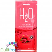 Prozis H2O Infusions Raspberry sugar free instant drink in a sachet, with vitamin C