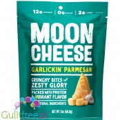 Moon Cheese Snacks Garlickin' Parmesan - keto chrupaki serowe