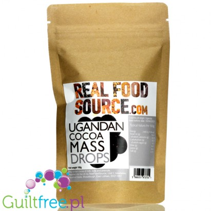 RealFoodSource Ugandan Roasted Cocoa Mass Drops