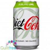 Diet Coke Sublime Lime 330ml, sugar and calorie free