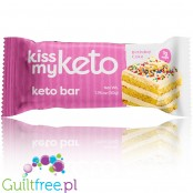 Kiss My Keto, Ketogenic Bar, White Chocolate & Birthday Cake
