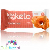 Kiss My Keto, Ketogenic Bar, White Chocolate & Maple Doughnut