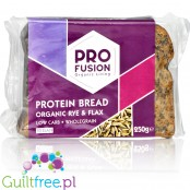 Profusion Rye & Flax Protein - ready to eat low carb protein bread