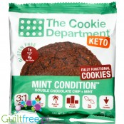 The Cookie Department Keto Cookie, Mint Condition (Double Chocolate Chip + Mint)
