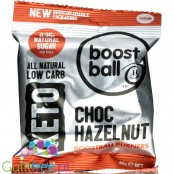 Boostball Burners Keto Ball, Choc Hazelnut - wegańska kulka fat bomb