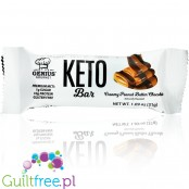 Genius Gourmet Keto Bar, Creamy Peanut Butter Chocolate