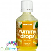Prozis Yummy Drops Lemon Pie liquid sweetened flavoring drops
