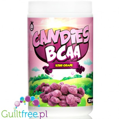 Yummy Sports Candies Sour Grape BCAA 2:1:1