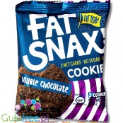 Fat Snax Cookies, Chocolat Double Chip - 2 keto cookies, gluten & sugar free