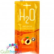 Prozis H2O Infusions Velvet Peach sugar free instant drink in a sachet, with vitamin C