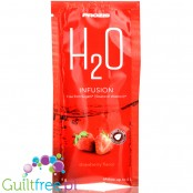 Prozis H2O Infusions Strawberry sugar free instant drink in a sachet, with vitamin C