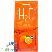 Prozis H2O Infusions Juicy Orange sugar free instant drink in a sachet, with vitamin C