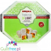 Koska sugar free rosy Turkish Delight with pistachios