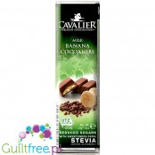 Cavalier Stevia no sugar added milk chocolate with banana cream and roasted cocoa nibs