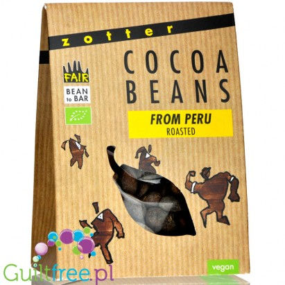 Zotter Roasted Peru Beans organic roasted cocoa nibs