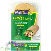 Flatout CarbDown Italian Herb - low carb & high fiber flat breads