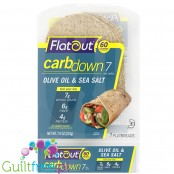 Flatout CarbDown Olive Oil & Sea Salt - low carb & high fiber flat breads