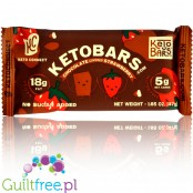 Keto Bar, Chocolate Covered Strawberry vegan ketogenic bar