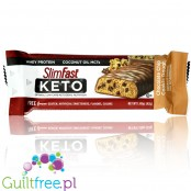 Slim Fast Keto Meal Bar, Chocolate Chip Cookie Dough - keto baton czekoladowy z MCT i stewią
