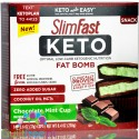 SlimFast Keto Fat Bomb Chocolate Mint Cups with MCT