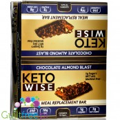 Healthsmart Keto Wise Meal Replacement Bar, Chocolate Almond Blast