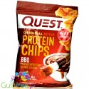Baked Protein Chips from dried potatoes, BBQ -
