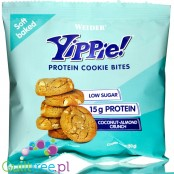 Weider® Yippie! Cookie Bites, Coconut Almond, protein enriched crunchy cookies