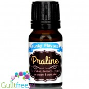 Funky Flavors Praline liquid food flavoring, fat, carb, sugar and sweetener free