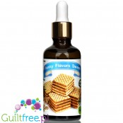 Funky Flavors Sweet Crispy Waffer sugar free liquid flavor with sucralose
