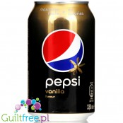 Pepsi Max Vanilla zero sugar, no calories, 330ml can
